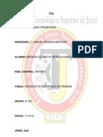 TECNICAS DE REEMPLAZO DE PÁGINAS
