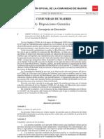 Orden en la que se regulan las pruebas libres para la obtención del título de Bachiller en Madrid