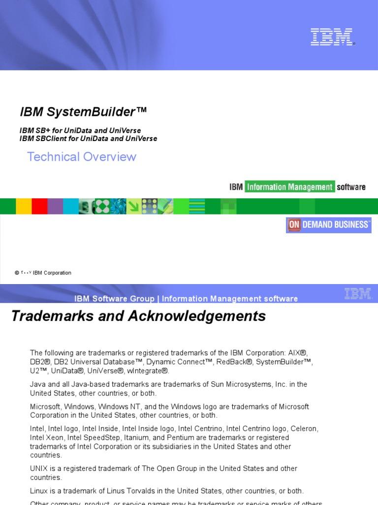 IBM System Builder Overview.02...