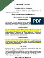 Decreto No. 04-11. Estado de Sitio en Peten