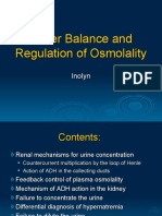 Water Balance and Regulation of Osmolality