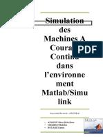 Tp Matlab Machine a Courant Continu par Armel-Sitou Afanou