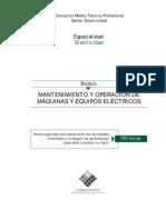 MANTENIMIENTOYOPERACIONDEMAQUINAS Y EQUIPOS ELÉCTRICOS