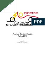 FSE Rules 2011 v1.1.0 Electric