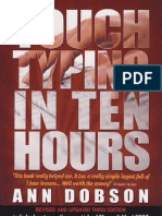 Touch Typing in Ten Hours Spend a Few Hours Now and Gain a Valuable Skill for Life-Viny