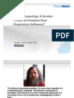 Cloud Computing Presentation Feb 09 Brian Reale