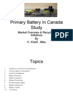 Primary Batteries Study 2011