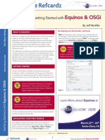 Refcardz Equinox and OSGI