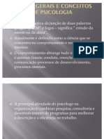 NOÇÕES GERAIS E CONCEITOSDE PSICOLOGIA