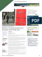 BofA to Keep Foreclosures Despite New Utah Law _ the Salt Lake Tribune