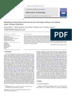 Modelling Neutral Lipid Product Ti On by the Microalga Isochrysis Aff. Galbana Under Nitrogen Limitation