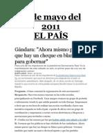 El País - Democracia Real - 15, 16,17 y 18 de Mayo - 2011
