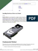 Installing Hardware Drivers in Ubuntu « Linoob