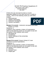 Endocrine NCLEX PN Pract & ANS Questions II