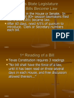 Texas How Bills Become Law