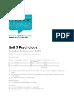 Unit 3 Psychology - Practice Exam