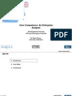 PLN 0305 Core Competence an Enterprise Analysis