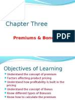 IRDA - Chapter 3 Premiums & Bonuses