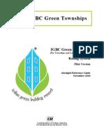 IGBC Green Townships Rating System - Pilot, Nov 2010