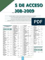 Notas de Corte Curso 2008-2009