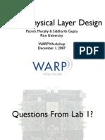 WARP Workshop Slides 2 PHY