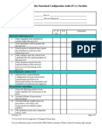 Functional Configuration Audit