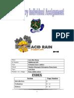 Acid Rain (Individual Assignment)