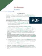 Clasificación y tipos de empresas