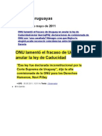 Noticias Uruguayas 31 Mayo 2011