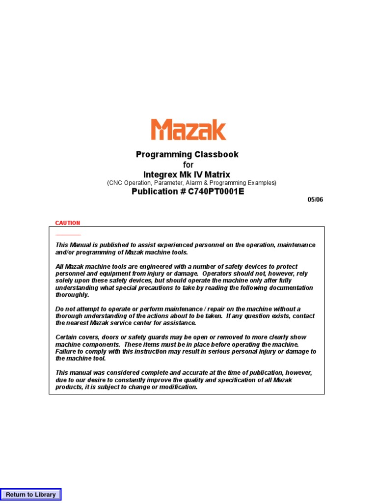 mazak programming manual fusion