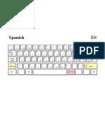 Spanish Keyboard Layout PDF