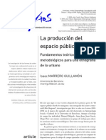 Marrero-Guillamón. 2008. La producción del espacio público. Fundamentos teóricos y metodológicos para una etnografía de lo urbano