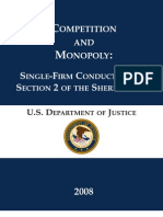 Competition and Monopoly -  Single Firm Conduct Under Section 2 of the Sherman Act (DOJ)