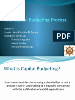The Capital Budgeting Process