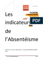 Les indicateurs de l'Absentéisme