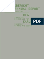 HfG_Jahresbericht Annual Report 06 07