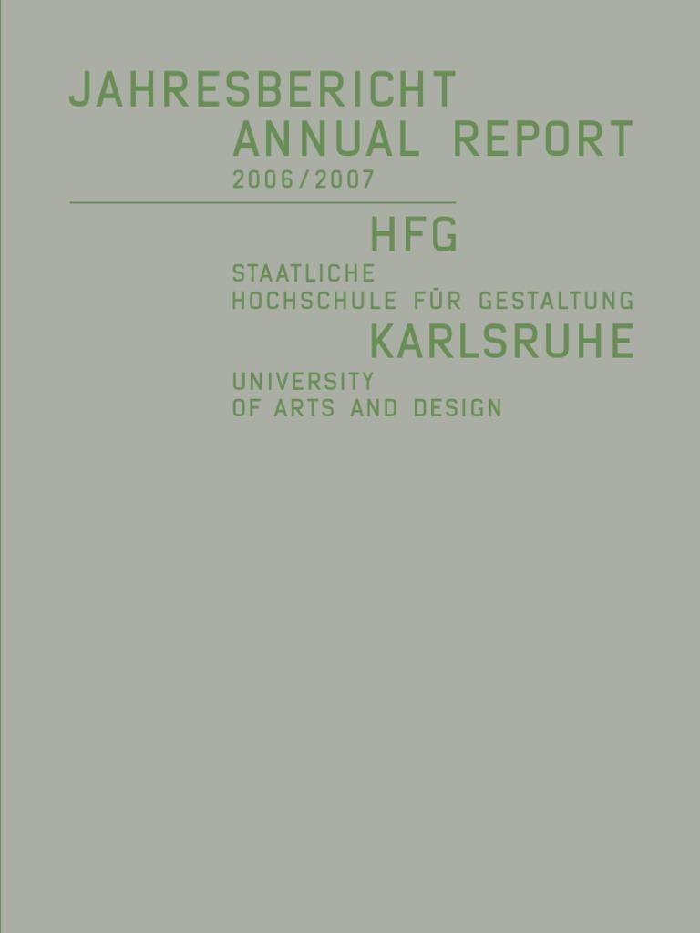 HfG Jahresbericht Annual Report 06 07 09a9b8da27