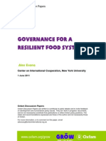 Governance for a Resilient Food System