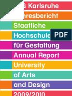 HfG_Jahresbericht Annual Report 09 10