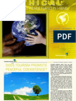 Tourism Review Online Magazine - Tourism and Peace Hand in Hand