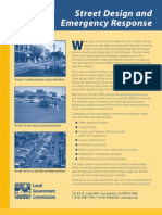 Street Design and Emergency Response