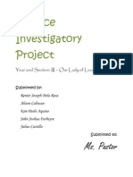 Science Investigatory Project III