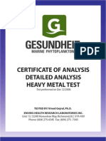 Gmp Certificate of Analysis