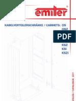 Kabelverteilerschränke / catalogue OS, KS - 2011