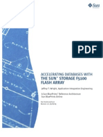 Accelerating Databases With the Sun Storage F5100 Flash Array Blueprints
