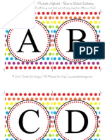 36045848 Rainbow Alphabet Banner Back to School Collection