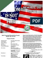 2011 Memorial Day Parade Program