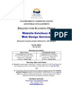 Government communications Website solutions request for standing offer