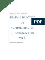 TRABAJO DE ADMINISTRACIÓN III