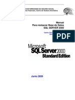 Pdr-052-Restaurar Bd SQL Server